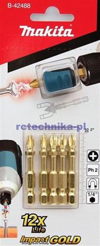 MAKITA Impact GOLD 5 x PH 2 50mm + magnetyzer